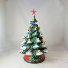 ceramic christmas tree light kit small ceramic frosty christmas tree with green holly base 10 inches