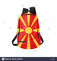 Macedonian Flag Macedonian Flag Backpack Isolated On White Background Back To