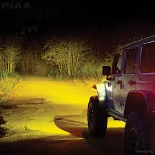 light yellow jeep piaa piaa lp530 led yellow driving beam kit 22 05372