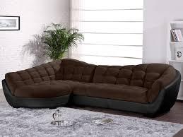 canape droit tissu canapé d angle droit tissu et cuir leandro canapé vente unique