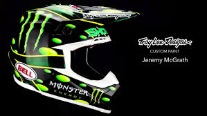 troy lee motocross helmets troy lee designs mcgrath u0026 gwin painted helmets