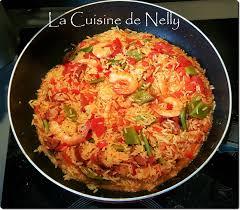 poivron cuisine riz espagnol chorizo crevettes poivron haricots plats