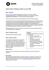 writing a persuasive letter by oxfam teaching resources tes