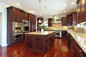 kitchen cabinets backsplash ideas cherry cabinets blue backsplash wood kitchen cabinet designs
