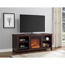 60 inch tv stand with electric fireplace ameriwood furniture edgewood tv console with fireplace for tvs