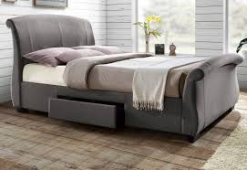 Fabric Sleigh Bed Fabric Upholstered Bed With Drawers Upholstered Bed With Drawers