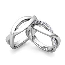 matching wedding rings for him and custom infinity wedding ring band for him and with diamonds