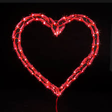 Valentines Day Decor Lights by Red Heart Christmas Light
