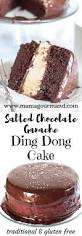 salted chocolate ganache ding dong cake mamagourmand
