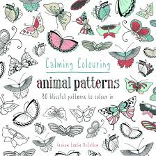 calming colouring animal patterns 80 blissful patterns to colour