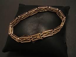 gold vintage bracelet images English 9ct gold antique gate bracelet christopher william jpg
