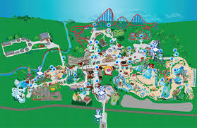 Six Flags America Map by