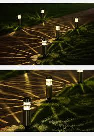 steel waterproof led solar light landscape path lights garden