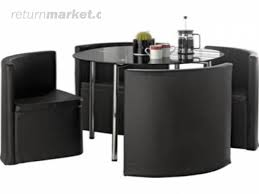 Space Saver Dining Table Sets Inspiration Dining Table Set Black Dining Table As Space Saver