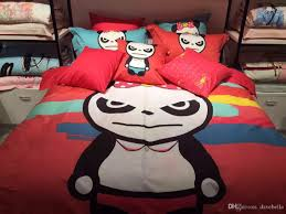 children love cartoon panda bedding sets lovely monkey printed