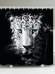 Animal Print Bathroom Decor Shower Curtains Snow Leopard Shower Curtain Bathroom Ideas Snow