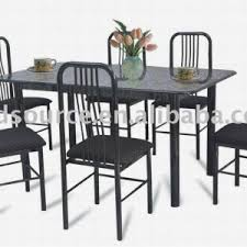 Marble Bistro Table And Chairs Vintage Outdoor Dining Room With Coated Iron Restaurant Chairs