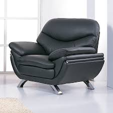 Black Leather Accent Chair Shop Bh Design Jonus Modern Black Leather Accent Chair At Lowes