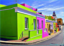 colorful building can t decide on the color to paint your house so use them all