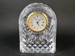 Small Glass Desk Clock Glass Crystal U2013 Lady Rose Treasures
