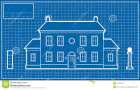 Blue Print Of A House Mansion Blueprint Stock Illustration Image 41194974