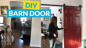 Make Sliding Barn Door by Diy Sliding Barn Door Youtube
