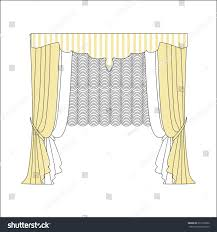 classic curtains curtains lambrequin stock vector 379162996