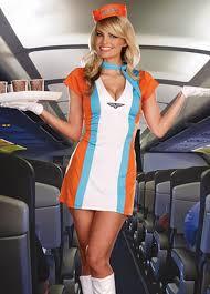 Flight Attendant Halloween Costumes Air Stewardess Flight Attendant Costume