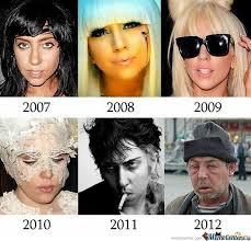 Lady Gaga Memes - evolution of lady gaga by mustapan meme center