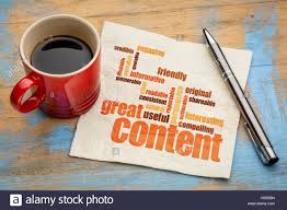 writing concept paper business writing and content marketing concept great content stock photo business writing and content marketing concept great content word cloud on a napkin with a cup of coffee