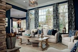 Shabby Chic Style Beige Living by Blue Curtains Living Room Living Room Traditional With Coffee