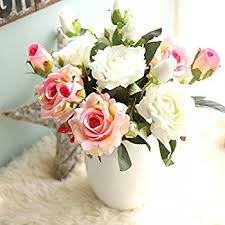 silk flowers artificial flowers flowers silk 9 heads roses