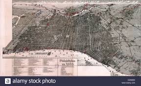 Map Of Philly Map Of Philadelphia Pennsylvania In 1888 Stock Photo Royalty
