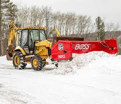 boss snowplow heavy equipment