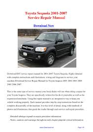 28 2001 toyota sequoia repair manual 41448