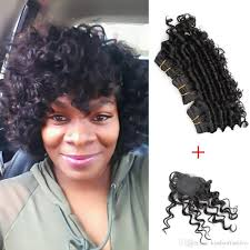 cheap kiss hair 8 inch deep wave unprocessed virgin remy human