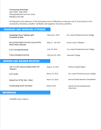 Resume Templates Samples Examples by Sample Resume Format For Fresh Graduates Two Page Format