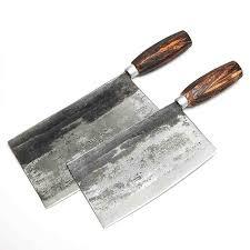 couteau de cuisine chinois chu famille handmande forgé couteau de mûrier shell acier chinois