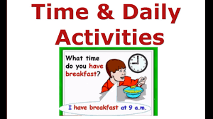 daily activities u0026 time beginners english courses esl kids