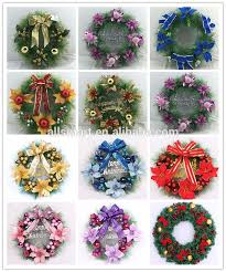 Artificial Christmas Decorations Wholesale by Wholesale Red Artificial Christmas Decoration Wreath Garland Buy