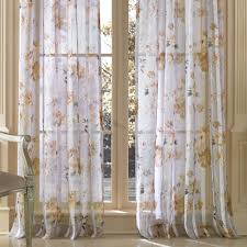 sheer window treatments imperial garden watercolor floral sheer window treatment