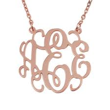 monogram necklaces gold silver monogram necklace