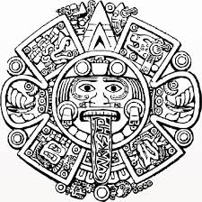coloring pages tattoos aztec calendar coloring page aztec calendar coloring page