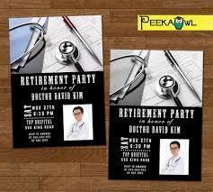 Retirement Function Invitation Card Printable Doctor Retirement Party Invitation Card Doctor