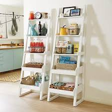Short Ladder Bookcase Shelves Shelving Storage Shelves U0026 Shelf Units The Container Store