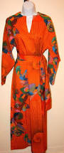vintage maxi orange green yellow pink floral roger freres paris