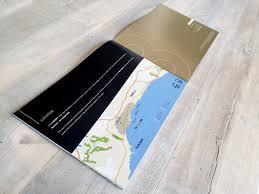 commercial brochure design for concept luxury villas advertising