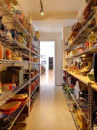 Open Metal Shelving Kitchen by Decorating Beautiful Pantry Shelving Designs With Open Design And