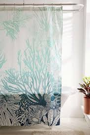 Salmon Colored Shower Curtain Curtains Coral And Teal Shower Curtain Coral Reef Shower Curtain