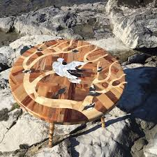 i used 12 different woods to make this nature inspired table in
